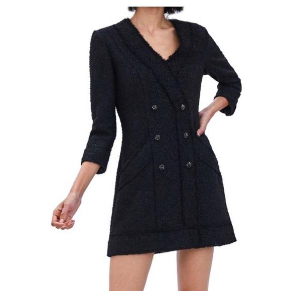 1f871a04 Zara Dresses | Tweed Blazer Dress | Poshmark